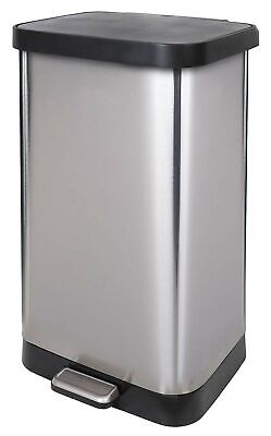 GLAD GLD-74507 Extra Capacity Stainless Steel Step Trash Can with Clorox Odor... Trash Can Odor