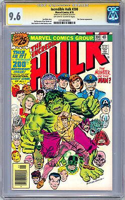 INCREDIBLE HULK #200 CGC-SS 9.6 SIGNED LOU FERRIGNO aka ORIG 1980'S TV HULK - 1980s Incredible Hulk