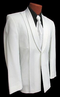 White Jean Yves Tuxedo Dinner Jacket Satin Shawl Lapels & Trim Cruise Mason 37R ()