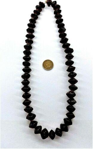 Strand Blood / Garnet Red Vaseline African Trade Beads 50 Pcs    Bin J2