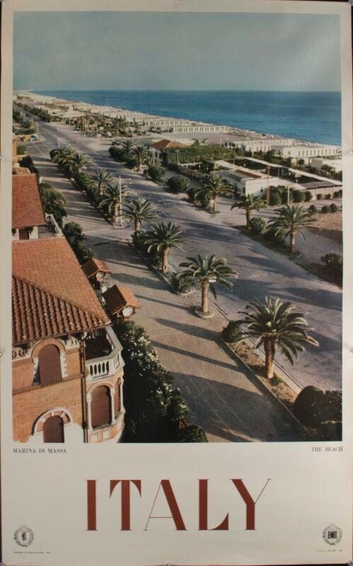 1960 Italy Marisa Di Massa Europe Travel Poster Original Vintage