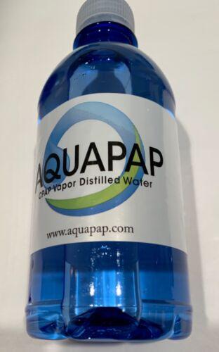 "AQUAPAP VAPOR DISTILLED WATER 1X12OZ BOTTLE SINGLE SERVING ""NEW"" FIRST QUALITY"