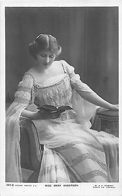 POSTCARD   ACTRESSES    MARY  ANDERSON