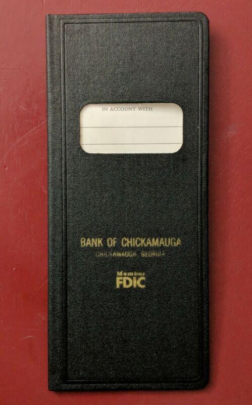 VINTAGE Bank Book Bank of Chickamauga Deposit Bank Book