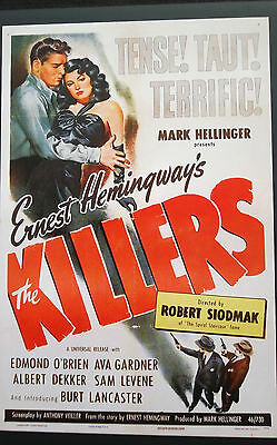 THE KILLERS Oscar Academy Film Noir Program Lancaster O'Brien Gardner Hemingway