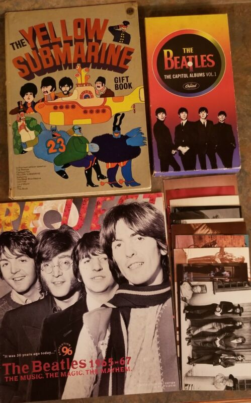 The Beatles Memorabilia Lot of 15 items Yellow Submarine Request Cd Post Cards!