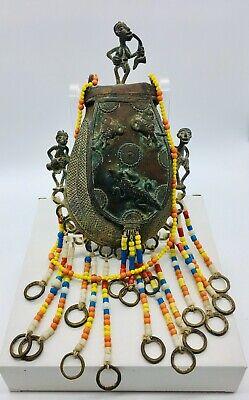 RAW Diamond Dokra Lost Wax Method Brass Necklace Earring Set ORIGINAL,One-Of-A-Kind Handmade Jewelry