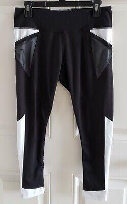 ZELLA Black &White Womens Midi Yoga Pants Size Large Pre-owned