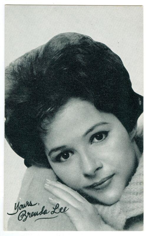 Singer Little Miss Dynamite Brenda Lee Vintage Billboard Music Arcade Card