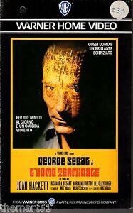L-039-uomo-Terminale-1974-VHS-Warner-Home-Video-1a-Ed-George-Segal-rara