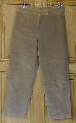 Heart Cord Pants - Hearts of Palm Ladies Size 8 Light Brown Cropped Cords