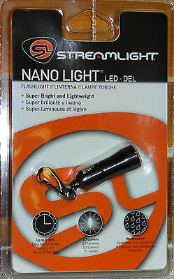 STREAMLIGHT NANO BRIGHT LED KEYCHAIN FLASHLIGHT with 10 LUMENS & BATTERIES 73001