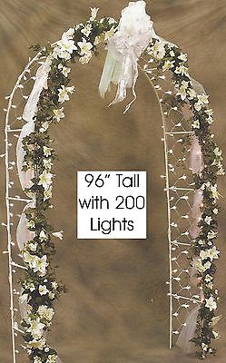 8' Prelit Wedding Arch with 200 Clear Net Lights - Wedding Arch With Lights