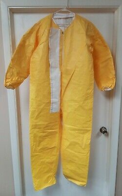 Large Tyvek Qc Bunny Rain Suit Coverall Yellow - No Hood