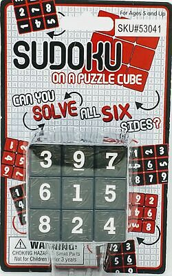 SUDOKU Math Puzzle Cube 3x3 Rubiks Rubics Rubix Number Game Toy Brain Teaser for sale  Shipping to Nigeria