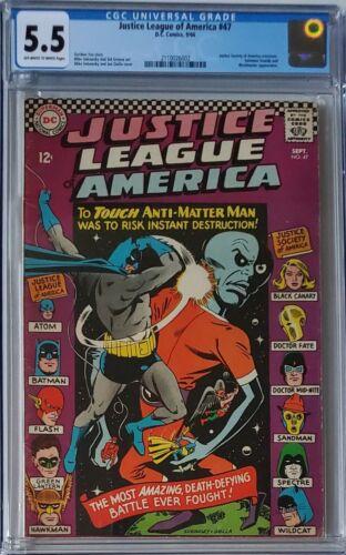 Justice League of America #47 CGC 5.5,Versus Anti-Matter Man