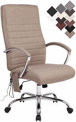 Bürostuhl Valais mit Massagefunktion Computerstuhl Drehstuhl Kunstleder Stoff