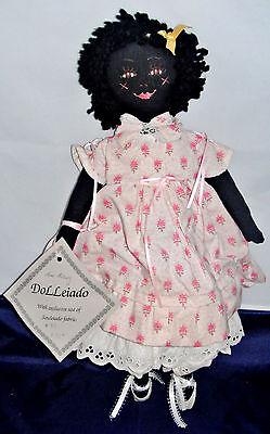 "Vintage OOAK Hand Made Ann Asbury Dolleiado Black AA Doll 18"""