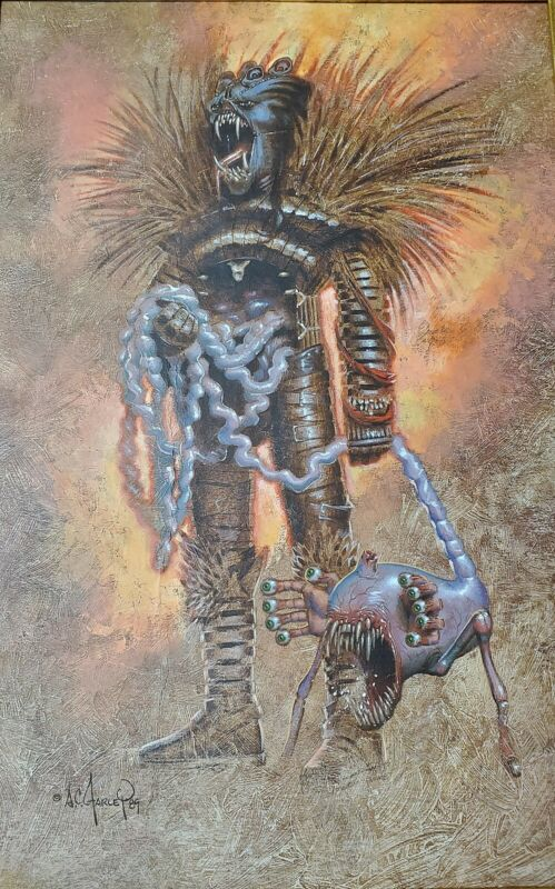 Clive Barker Hellraiser Issue 3  Original Art Cenobite Painting Splash Page
