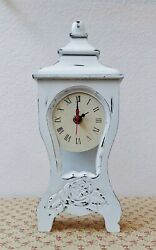 New Shabby Chic Hand-Painted Distressed Wooden Standing Clock