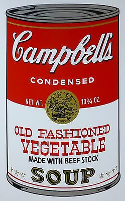 ANDY WARHOL CAMPBELLS' Old Fashioned Vegetable SOUP II SUNDAY B.MORNING 55/1500