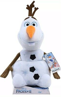 "Disney's Frozen 2 Plush Olaf 14"" Stuffed Snowman To Cuddle At Nigh"