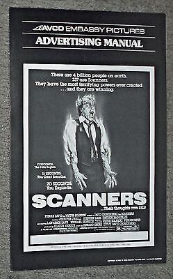 SCANNERS original 1981 movie pressbook DAVID CRONENBERG/PATRICK MCGOOHAN