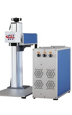 Max 50w Fiber Laser Marking Machine Q-switched Bjjcz Rotary Axis 2 Lenses