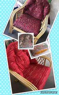 Made to measure cushion cover service for outdoor furniture