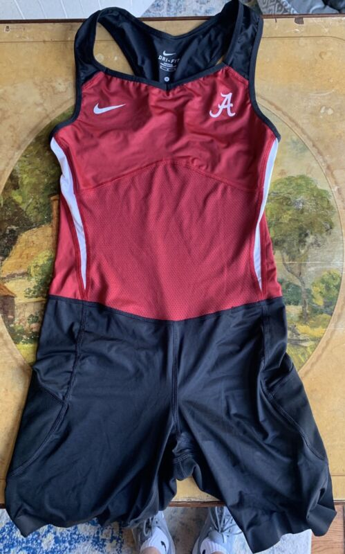 Wrestling team singlet NIKE team issued uniform U of ALABAMA mens MEDIUM