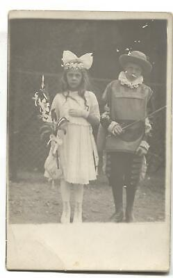 1920 Costumes For Kids (RPPC Postcard Children Dressed in Costumes for a Play c.)