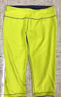 Bright Spandex Shorts - Lovely Zella Sz XS Bright Green Reversible Spandex Knee Length Activewear Shorts