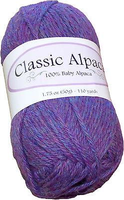 Classic Alpaca 100% Baby Alpaca Yarn #1635 Aurora Borealis 50g/110 yds DK Peru for sale  Crawford