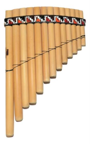 13 PIPES  PAN FLUTE BAMBOO  FROM PERU -CASE INCLUDED-ITEM IN USA