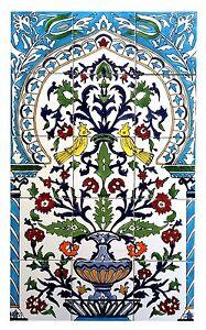 espagnol carrelage motifs art nouveau tyrkis fayance c ramique carreaux de mur ebay. Black Bedroom Furniture Sets. Home Design Ideas