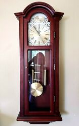 Bulova C3381 Tatianna Chiming Clock, Mahogany Westminster