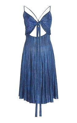 NWT Jacquemus Monaco Blue Cutout Voile Sleeveless Runway Dress Sz 34 US 2 $500