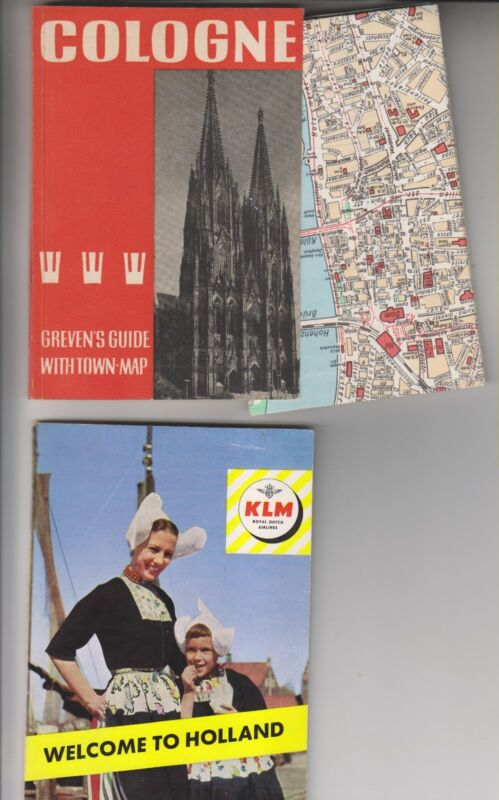 CIRCA 1958 15 TRAVEL RELATED BOOKLETS/BROCHURES/CARDS/PAMPHLETS - EUROPE