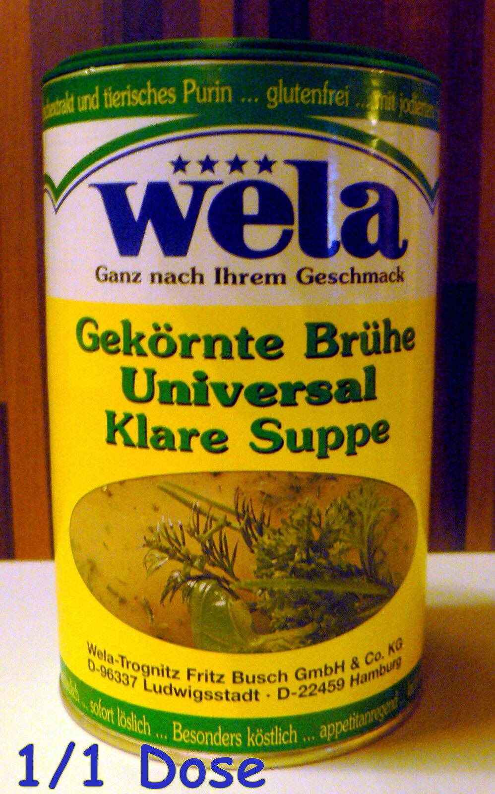 Wela-Gek. Brühe Universal Klare Suppe gluten+lactose+hefefrei Dose 1/1 für 50Ltr