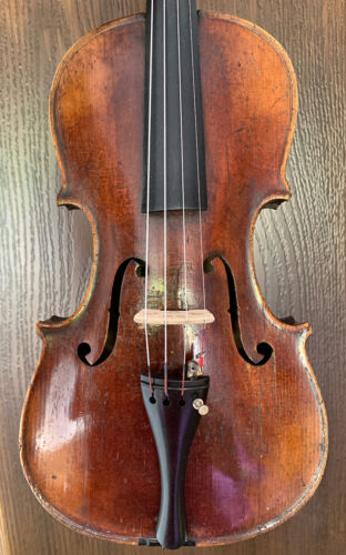 Nice, old, antique labelled 4/4 violin - READY TO PLAY!