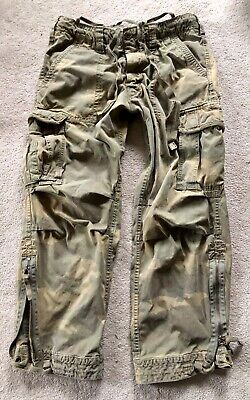 HTF Abercrombie Paratroops Cargo Camo Pants M Fatigues medium camouflage RARE