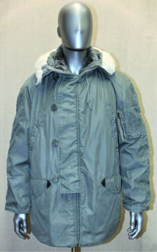 GENUINE USAF PARKA EXTREME COLD WEATHER TYPE N-3B  COTTON DATED 1978 MEDIUM
