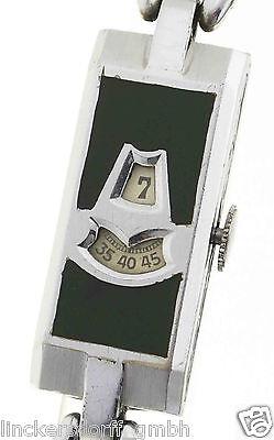 Gebraucht, ART DECO EMAILLE DIGITALUHR - SPRINGENDE STUNDE / JUMP HOUR - 1930er J. - SELTEN gebraucht kaufen  Berlin