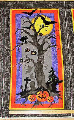 Marcus Halloween Fabric (Halloween H'Owl Owl Pumpkin Marcus Fabric Panel 23