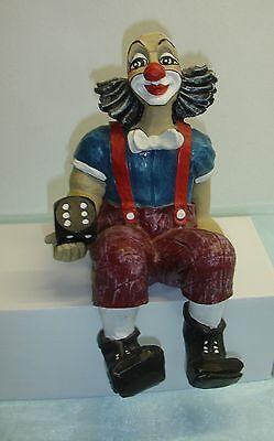 "Gilde Clown ""Gewinner"" Kantenhocker, Gesamt-Höhe 26 cm"