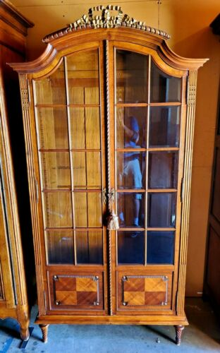 Antique 19th Century French Armoire with gold leaf