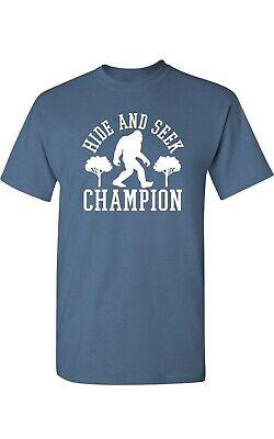 Hide and Seek Champion T Shirt Bigfoot 100% Cotton Folklore Conspiracy Tee XL