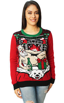 Ugly Christmas Sweater Women's One Night Only LED Light Up Sweater - Christmas Ugly Sweaters