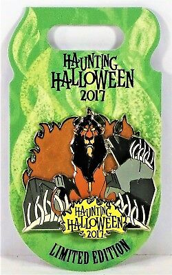 Disney Villain Haunting Halloween 2017 Scar From The Lion King 3-D Pin LE 4500
