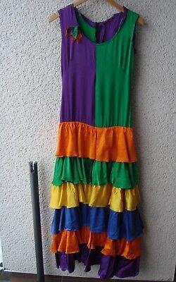 Kostüm Karneval Kleid, Spanierin, Flamenco-Tänzerin, Unikat  34 164 Satin Glanz
